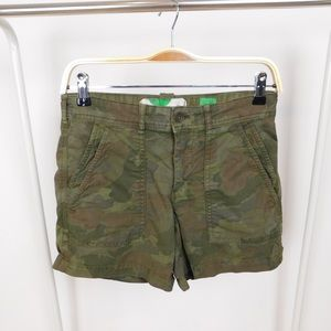 Anthropologie Green Camo Wanderer Shorts